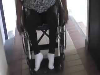 Polio sexy in wheelchair